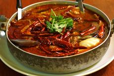 本店最辣的菜当属「水煮鱼」